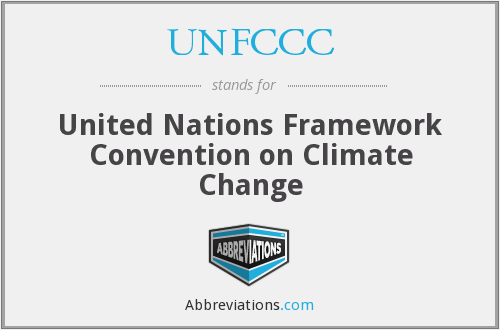 What does UNFCCC stand for?