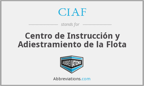 What does CIAF stand for?