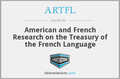 What does ARTFL stand for?