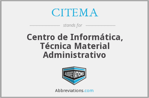 What does CITEMA stand for?