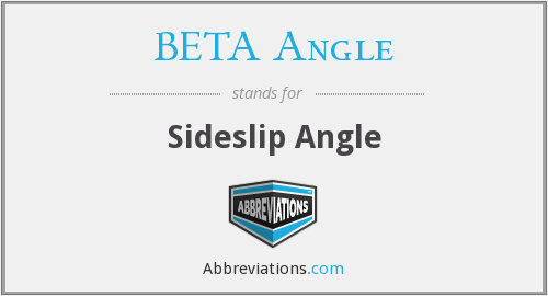 What does BETA ANGLE stand for?