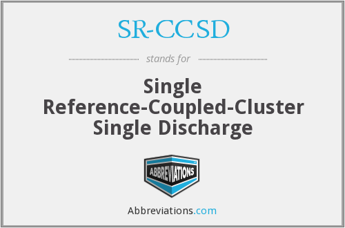 What does SR-CCSD stand for?