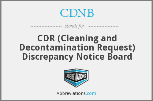 What does CDNB stand for?
