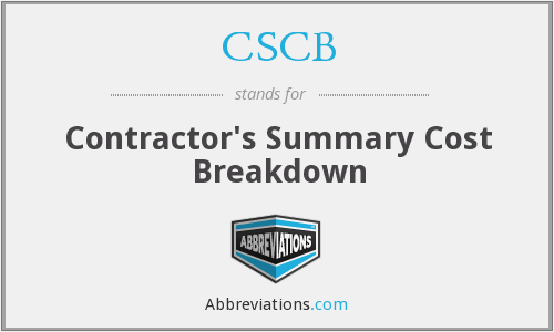 What does CSCB stand for?