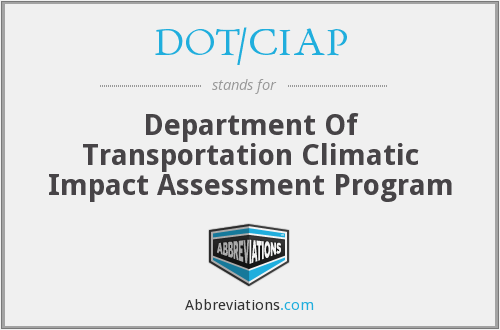 What does DOT/CIAP stand for?