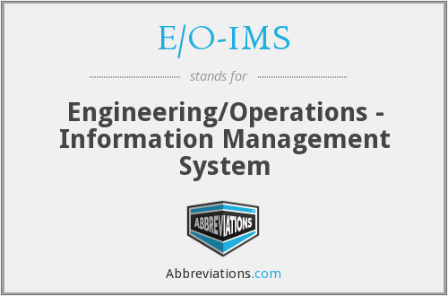 What does E/O-IMS stand for?