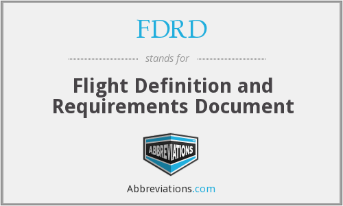 What does FDRD stand for?