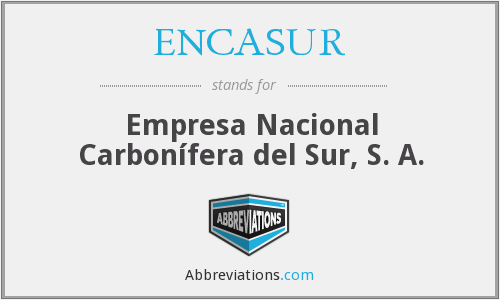 What does ENCASUR stand for?