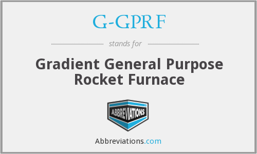 What does G-GPRF stand for?