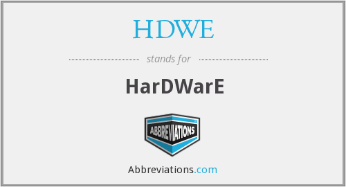 What does HDWE stand for?