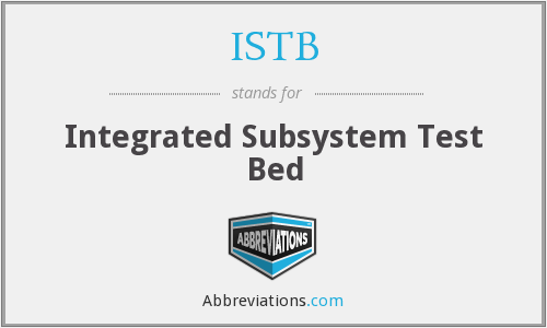 What does ISTB stand for?