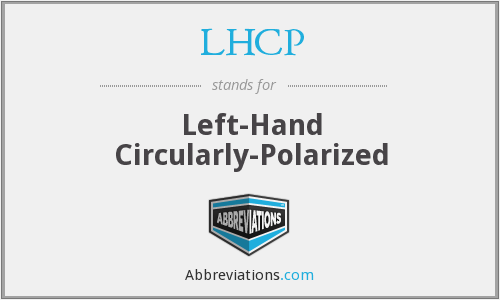 What does LHCP stand for?