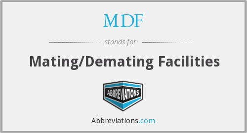 What does MDF stand for?