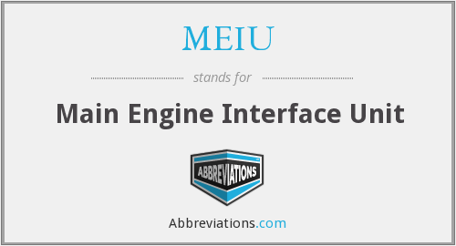 What does MEIU stand for?