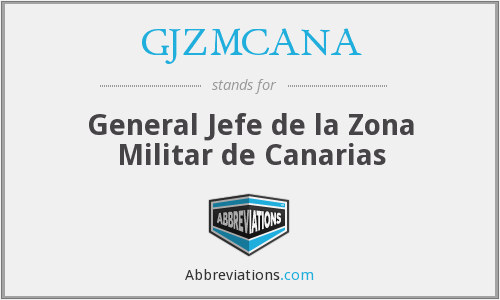What does GJZMCANA stand for?
