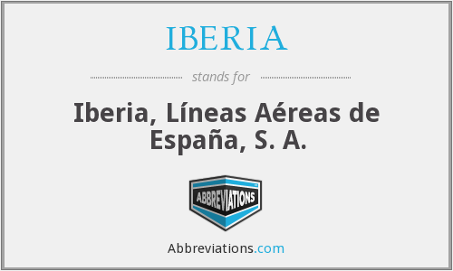 What does iberia stand for?