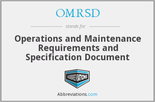 What does OMRSD stand for?