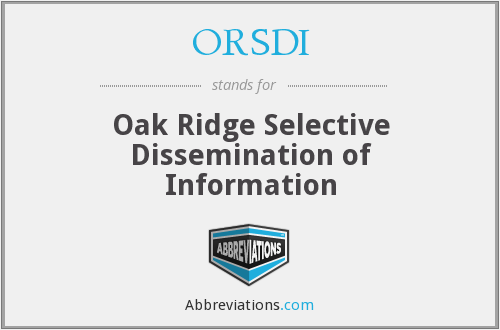 What does ORSDI stand for?