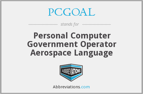 What does PCGOAL stand for?