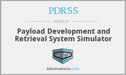 What does PDRSS stand for?