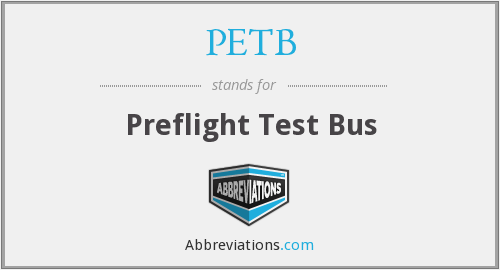 What does PETB stand for?