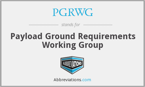 What does PGRWG stand for?