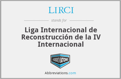What does LIRCI stand for?