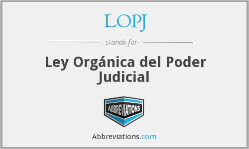 What does LOPJ stand for?
