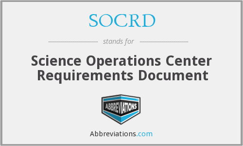 What does SOCRD stand for?