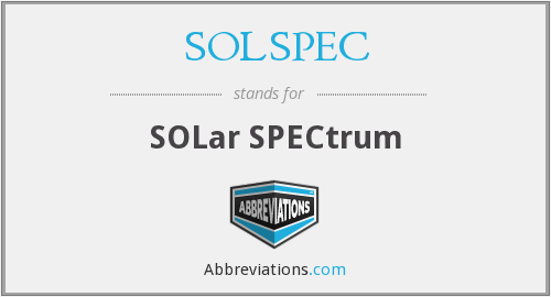 What does SOLSPEC stand for?