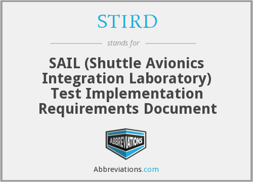 What does STIRD stand for?
