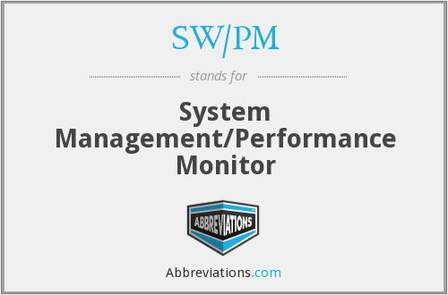 What does SW/PM stand for?