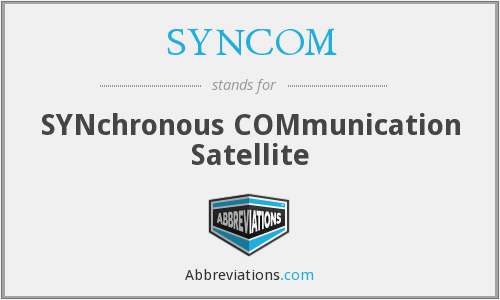 What does SYNCOM stand for?