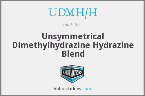 What does UDMH/H stand for?