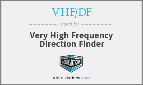 What does VHF/DF stand for?