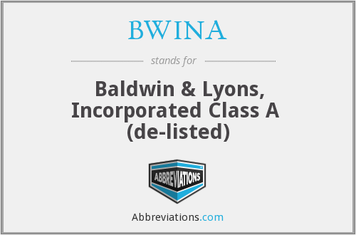 What does BWINA stand for?