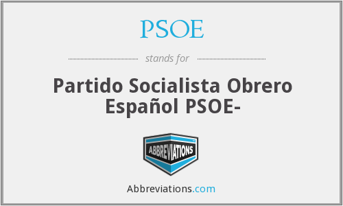 What does PSOE stand for?