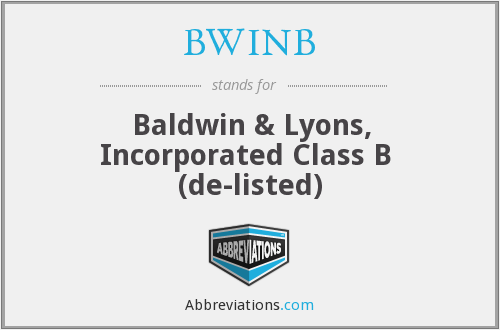 What does BWINB stand for?