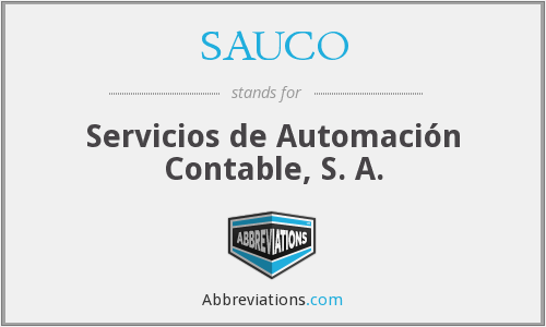 What does SAUCO stand for?