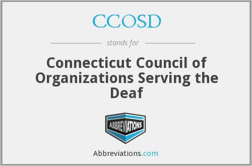 What does CCOSD stand for?
