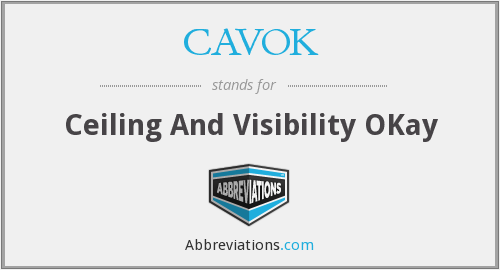 What does CAVOK stand for?