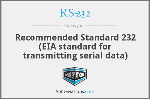 What does RS-232 stand for?