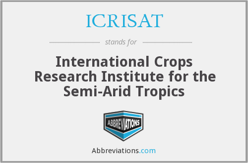 What does ICRISAT stand for?