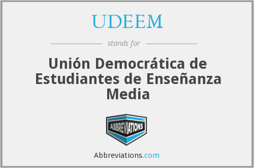 What does UDEEM stand for?