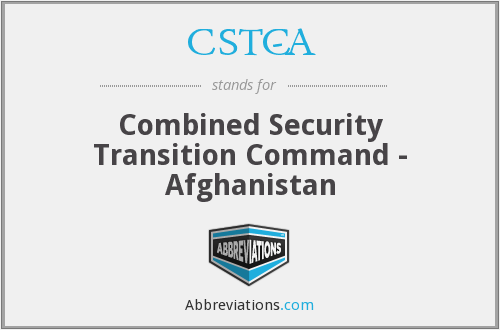 What does CSTC-A stand for?
