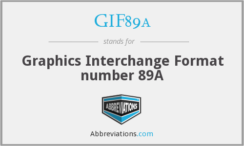 What does GIF89A stand for?