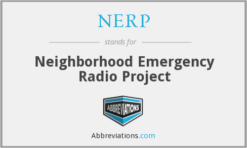 What does NERP stand for?