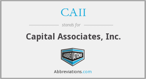 What does CAII stand for?