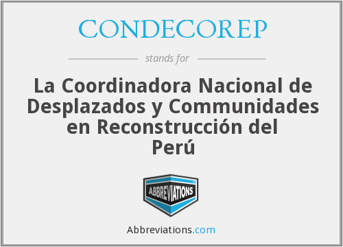 What does CONDECOREP stand for?