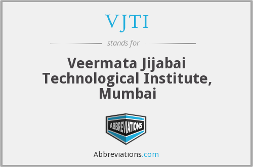 What does VJTI stand for?